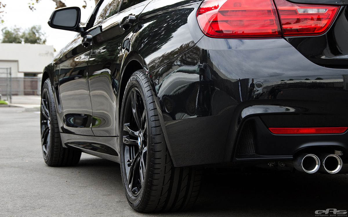 Black Sapphire 428i Gran Coupe With M Performance Parts Met