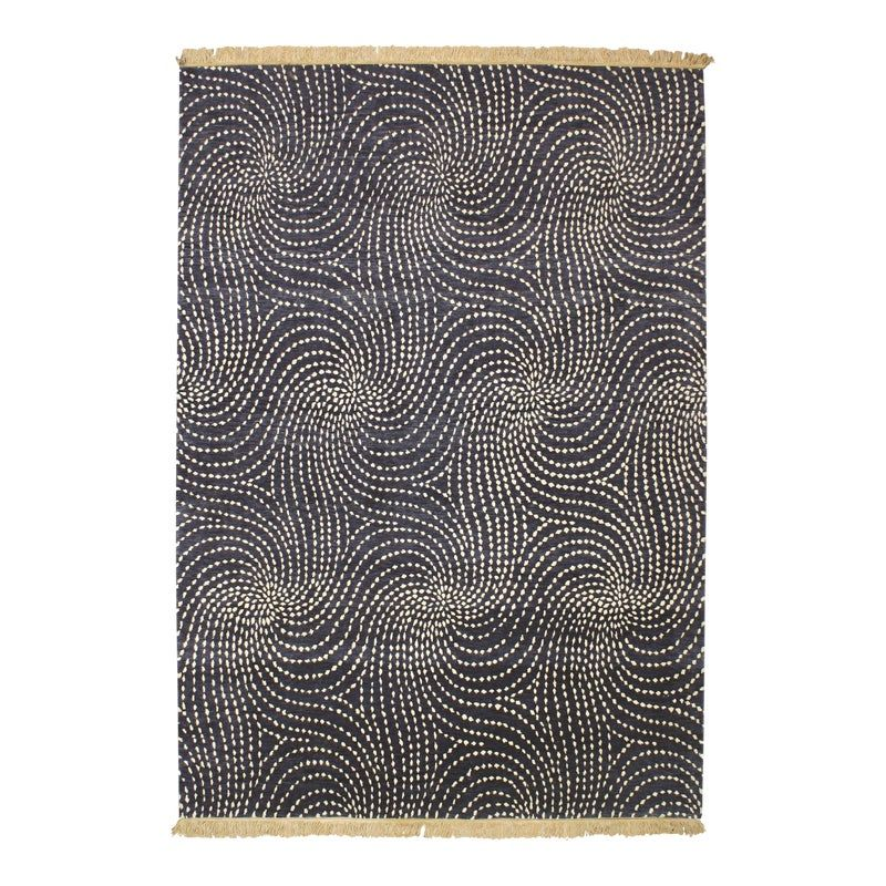 From our ModernArt Collection, this is a handmade Tibetan rug  .