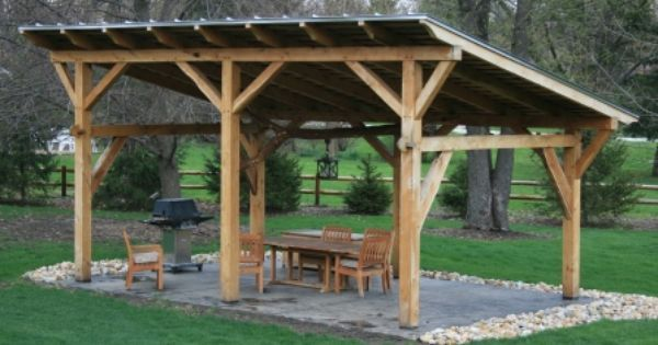 A Simple But Beautiful Shed Roof Pavilion Https Www Pinterest Com Pin 17451517283006719 Utm Content Buffer506ce Utm Medi Outdoor Shelters Pergola Backyard