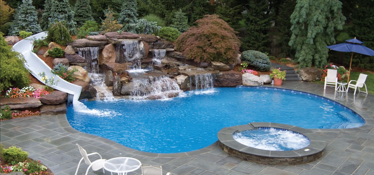 Beautiful Inground Swimming Pool Ideas You Can Have A Pool Design In Your Mind And Also Hav In 2020 Pool Landscaping Swimming Pools Inground Swimming Pools Backyard