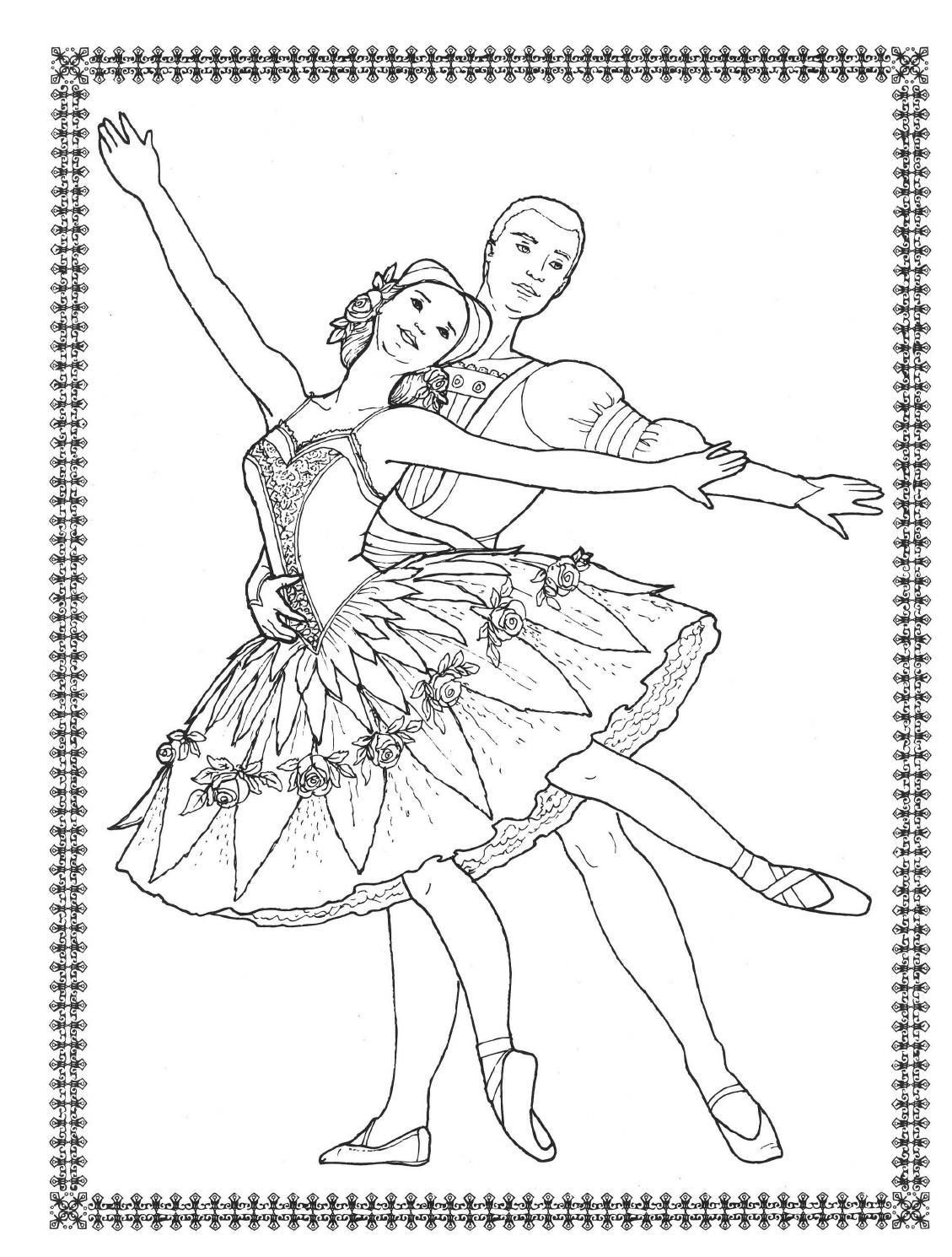 Dancers Coloring Book Costumes For Coloring