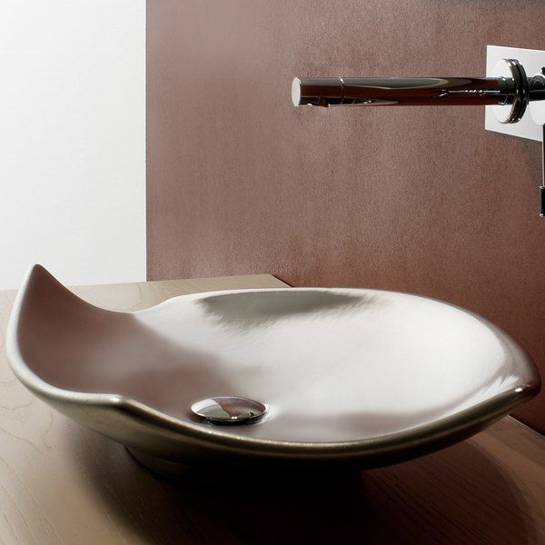 Description Kong Above Counter Sink Porcelain Scarabeo Models Include Vessel Sinks Decorative Bathroom Sinksread More