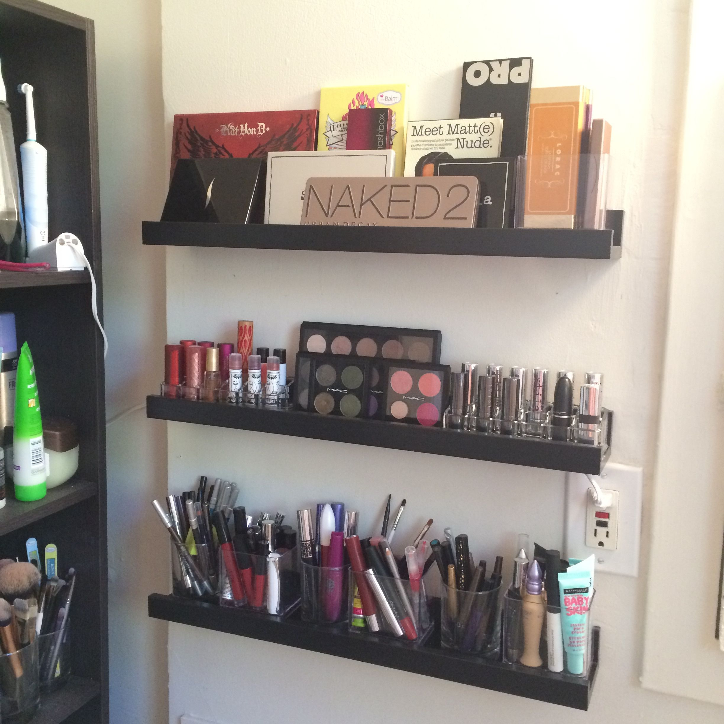 Makeup Organization Makeup Organization Vanity Shelves Organization
