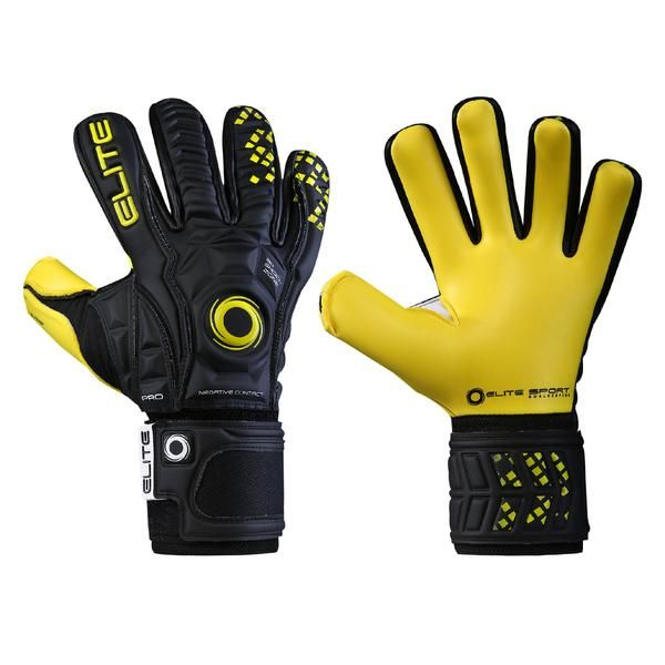 Elite Sport Goalkeeper Gloves Pro Series B.P. 4 mm of ELITE CONTACT MY  latex + 4 7f82db7e2a079