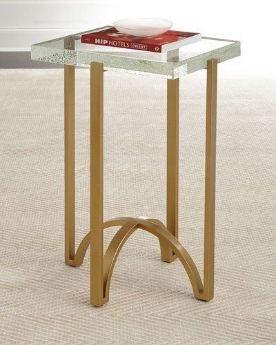 H8S00 Hooker Furniture Kingman Glass Top Side Table