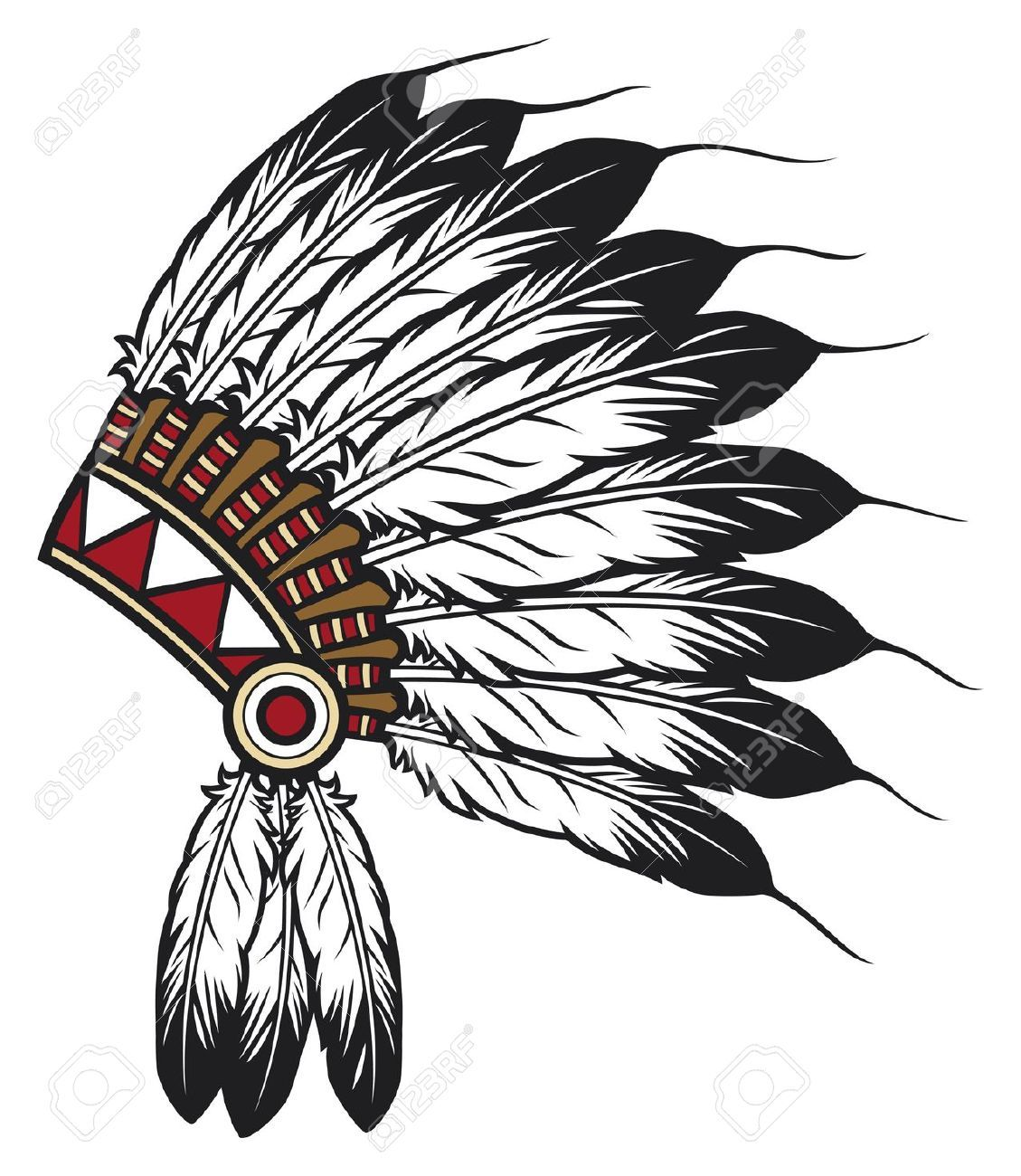 indian headdress clipart [ 1129 x 1300 Pixel ]