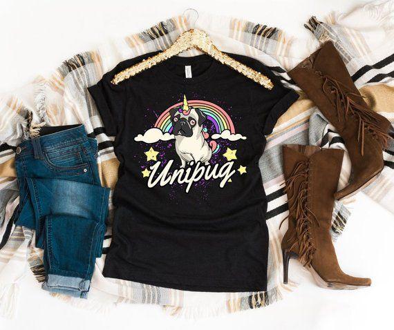 59027f45 Cute Pug Unicorn shirt with rainbow pug shirts | pug shirt | pug shirts  woman | pug shirt funny | pug shirt tees | pugs lover t-shirt