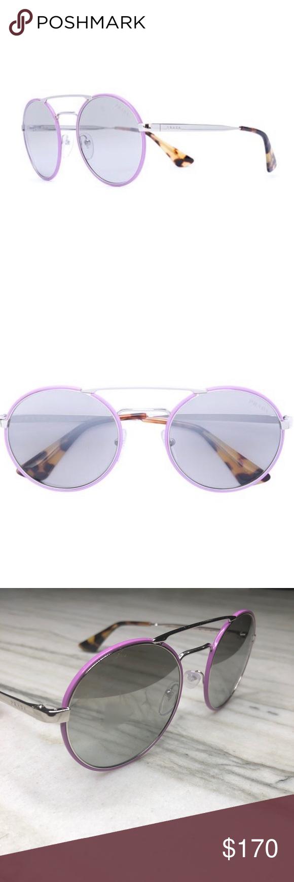 fcccf3c65c NWT Prada Cinema round wire frame sunglasses NWT Prada Cinema round  sunglasses Violet Cinema round sunglasses