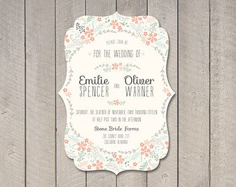 Luxe Floral Wedding Invitation RSVP by vintagesweetdesign on Etsy