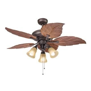 Ceiling Fans   A Collection by Molly   Favorave   Modern Ceiling     This 52 inch ceiling fan features a bronze finish and dark oak colored leaf  shaped ABS blades that will compliment many casual decors