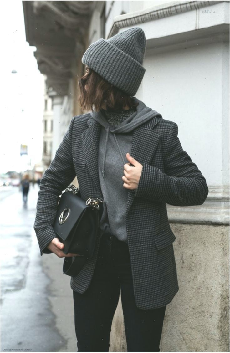 black-gray winter outfit – Best My deas