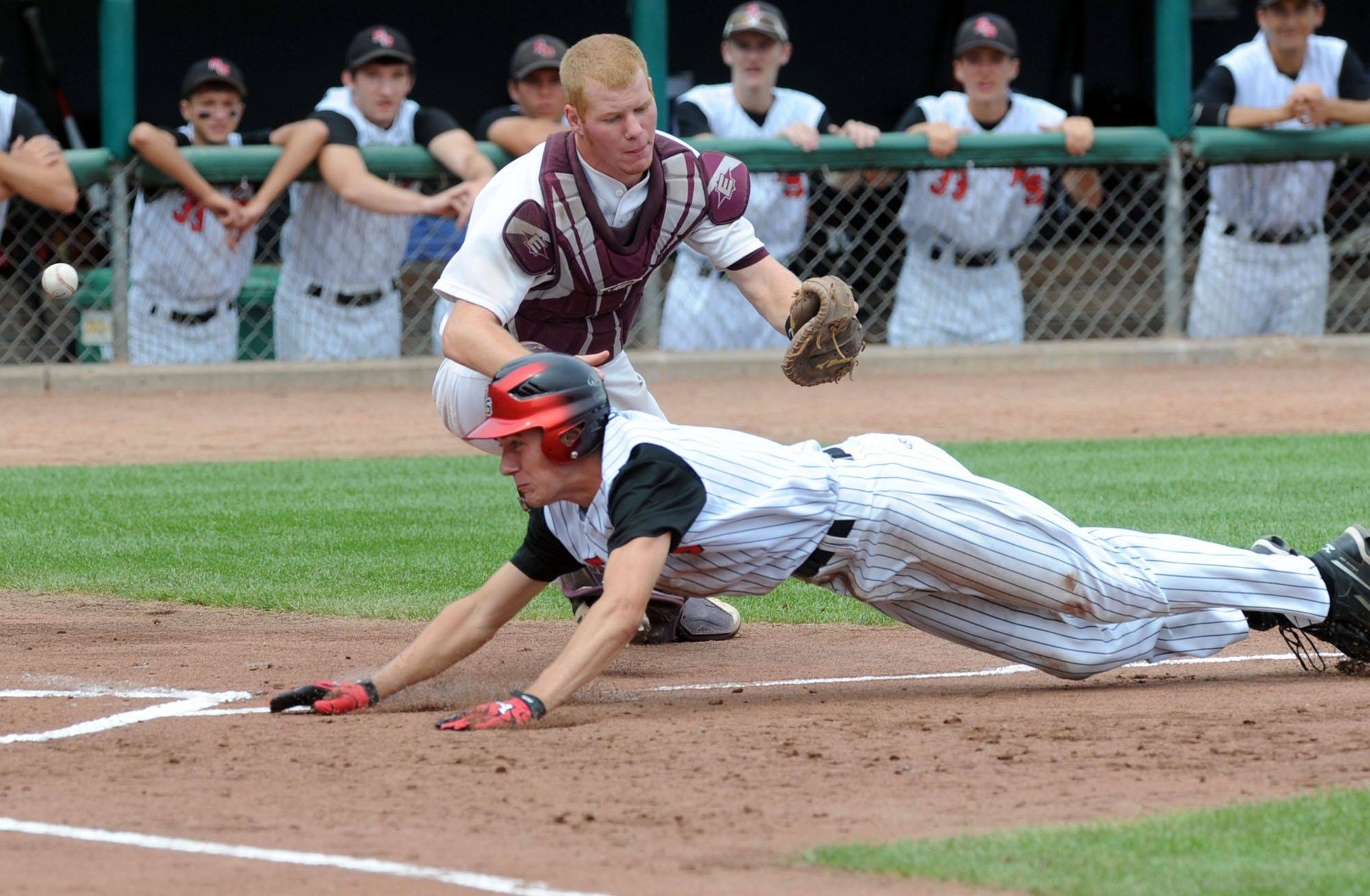 RolandStory baseball plays during the state tournament