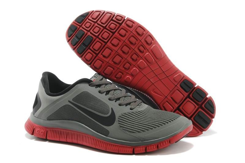 Cheap Nike Free 4.0 V3 Shoes Grey Black Red