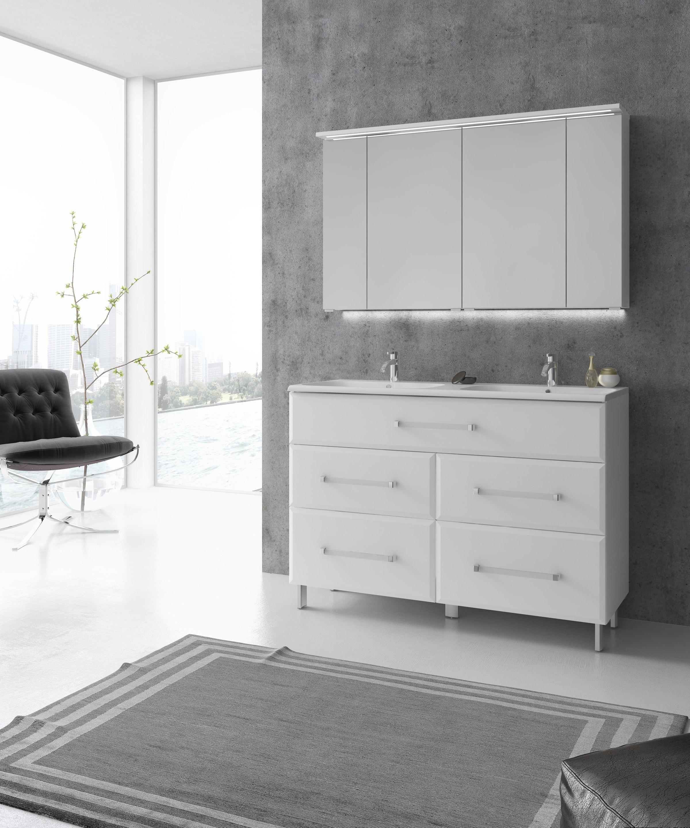 Meuble Simple Vasque L 120 X H 84 X P 45 2 Cm Blanc Opale Meuble Salle De Bain Leroy Merlin Meuble Simple Et Meuble Salle De Bain