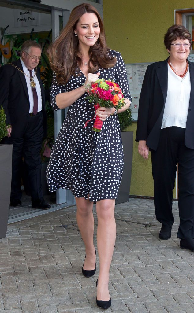 Seeing Spots from Kate Middleton's Mommy Style LBD chic! The mom-to-be's sweet polka dot frock is courtesy of ASOS.