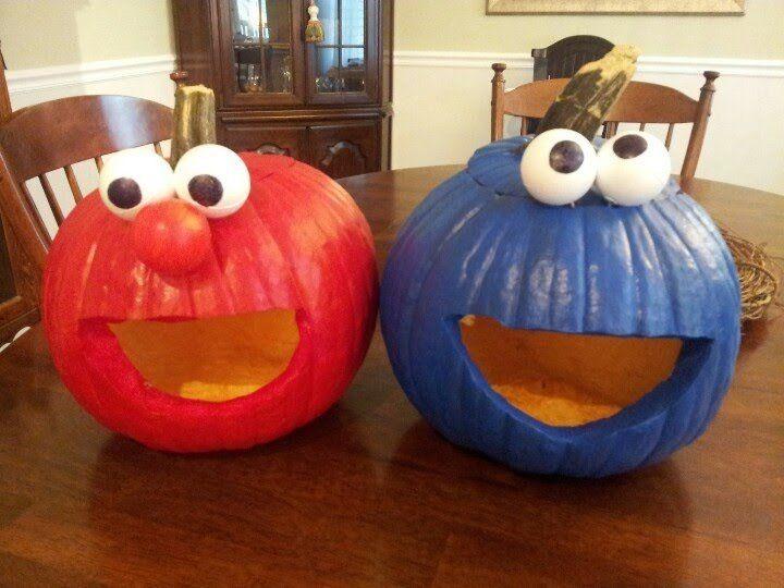 Home Geekonomics \u2014 Elmo and Cookie Monster pumpkins Halloween #2 - halloween pumpkin cookies decorating