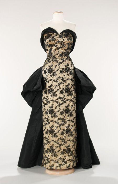 House of Balmain   Designer: Pierre Balmain. Date: 1953 Culture: French Medium: silk, rhinestones
