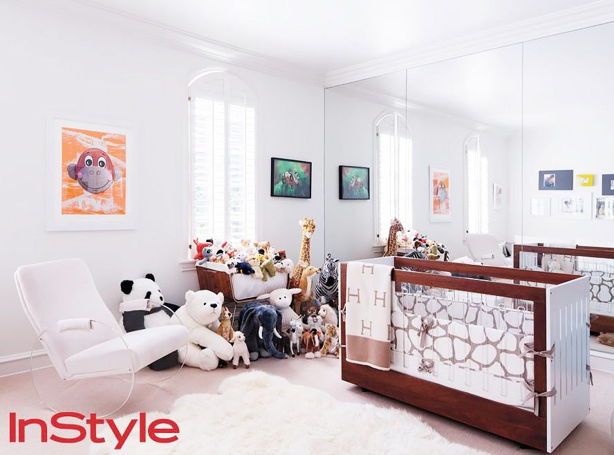 The 13 Chicest Celebrity Nurseries Inside Celebrity Homes Celebrity Nurseries Trending Decor