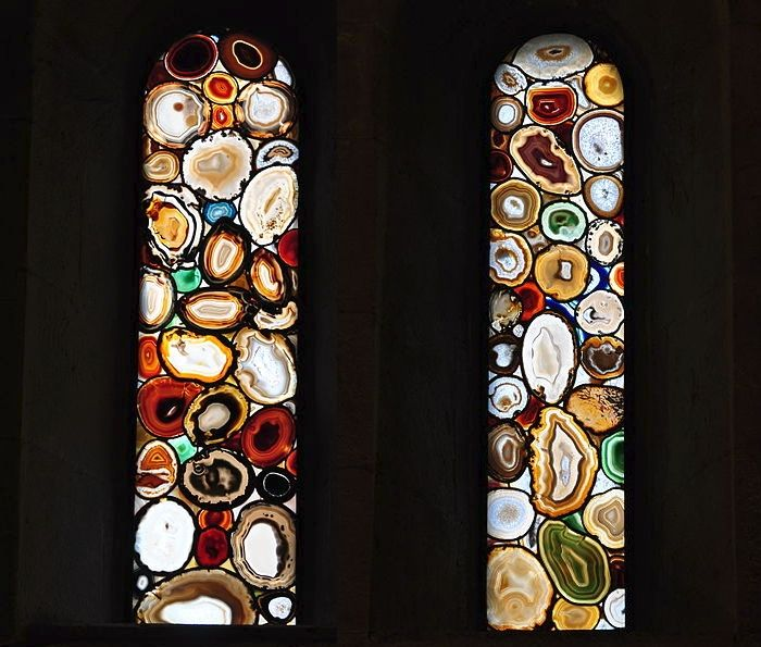 "Transom Windows A Useful Design Element: Cut Agate Slabs Form These ""stained Glass"" Windows By"