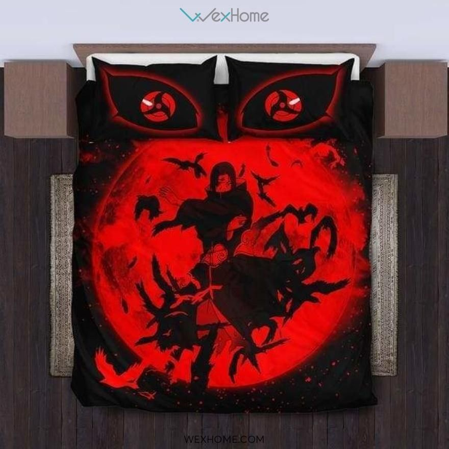 Photo of Uchiha Itachi Bedding Set – duvet cover and pillowcase set – Unique Design Amazing Gift