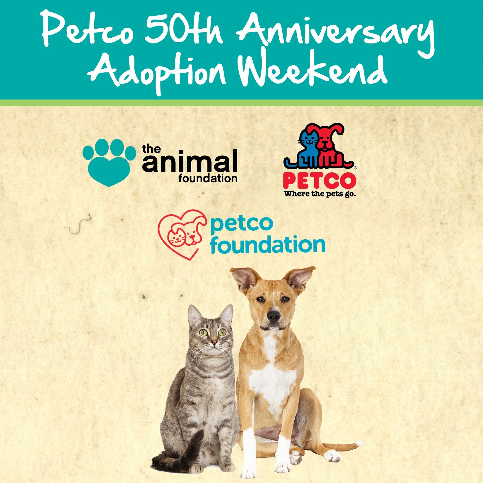 This Weekend We Will Be Helping Petco Celebrate Their 50th Anniversary With Adoptable Pets We Will Be Holding Adoption Events At Petc Petco Pet Adoption Event