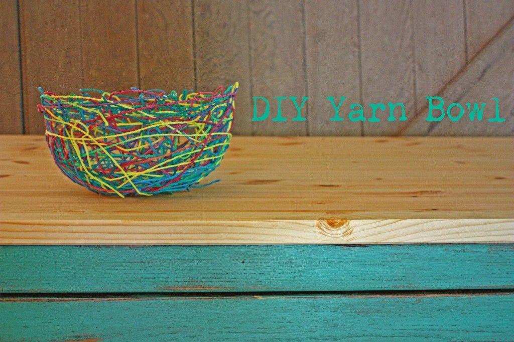 Diy yarn bowl yarn bowl easy diy crafts creative crafts