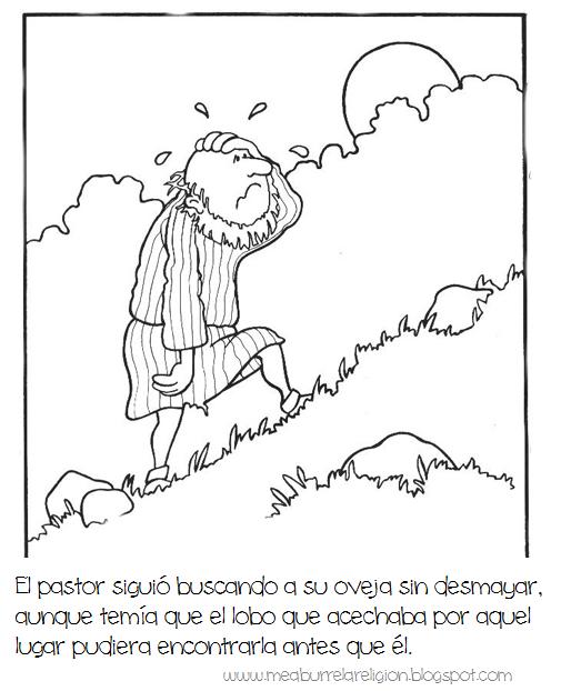Par bola ilustrada de la oveja perdida dibujos biblicos - Artigianato per cristiani ...