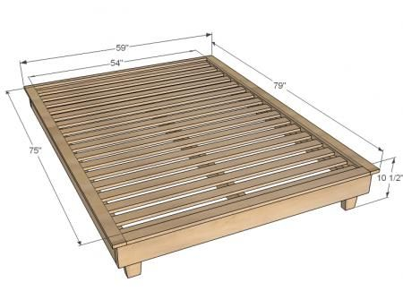 diy furniture plan from ana whitecom build full size platform bedplatform - King Size Bed Frame Plans