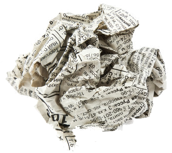 crumbled newspaper png transparent - Google Search ...