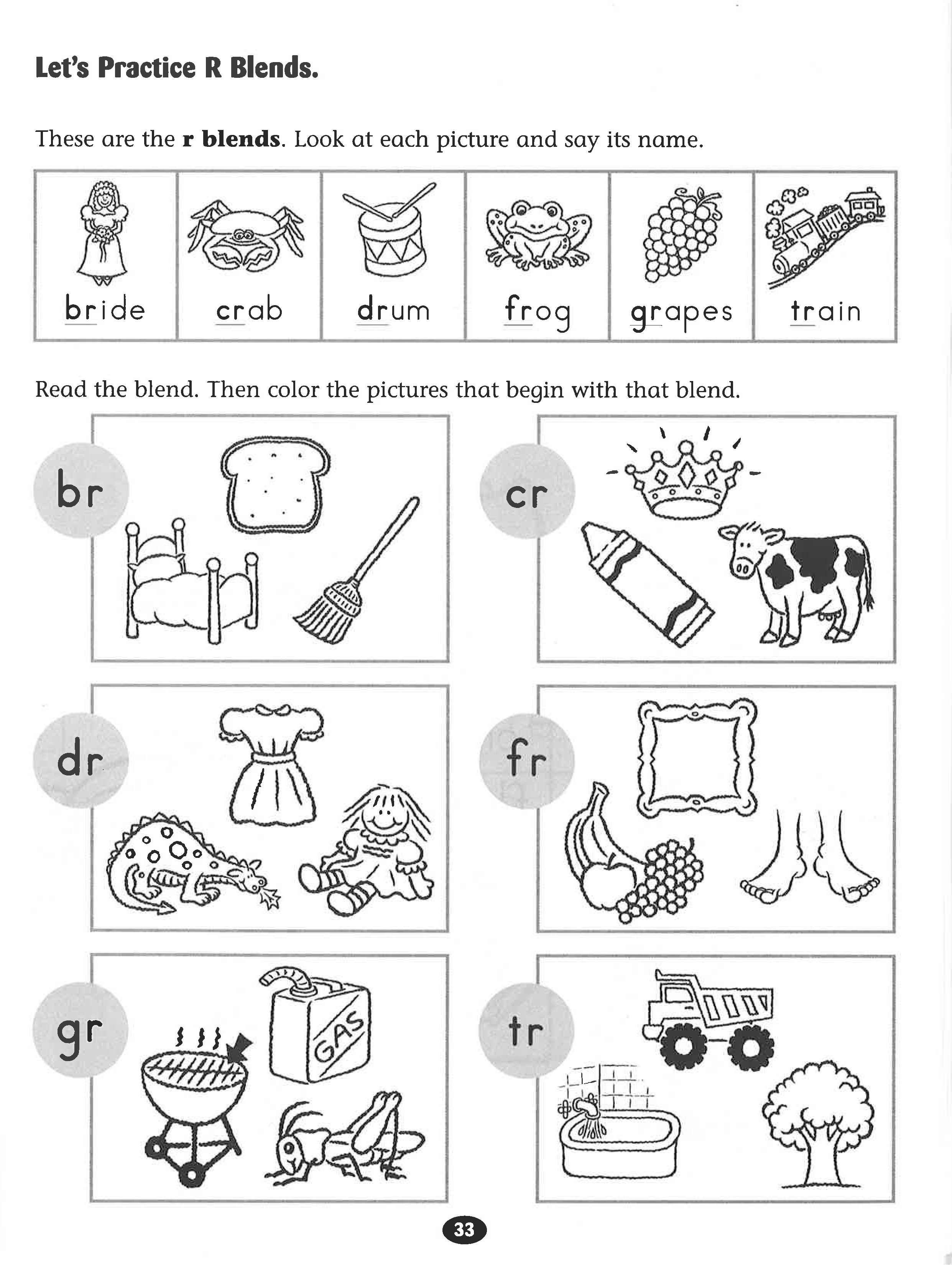 Blends Worksheets For Kids