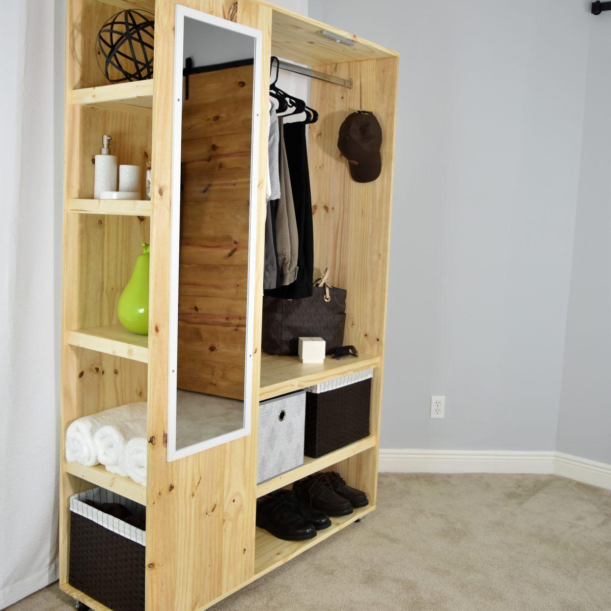 Diy Portable Closet Organizer Pdf Plan Diy Creators Diy Furniture Plans Portable Closet Diy Closet
