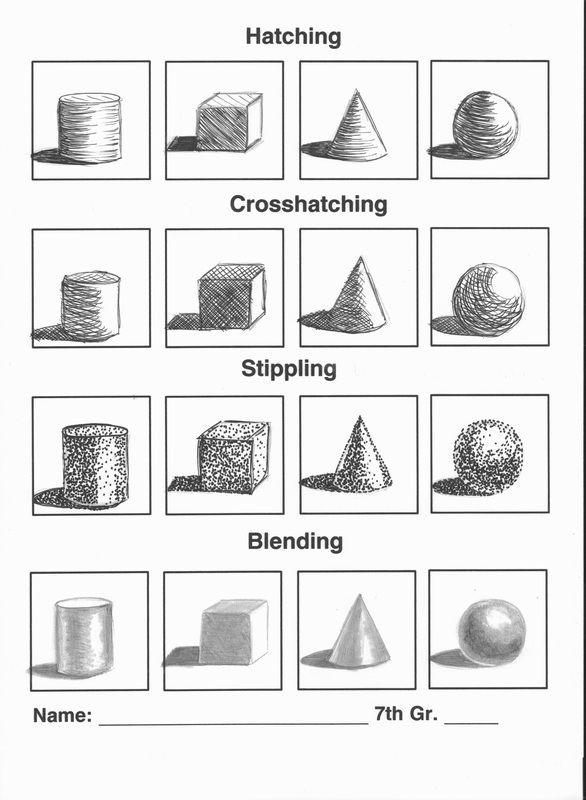formative assessment option shading work sheet blending gradual hatching cross hatching. Black Bedroom Furniture Sets. Home Design Ideas
