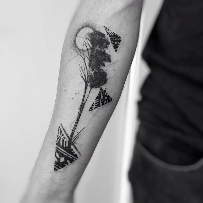 50 mighty tree tattoo designs and ideas tattoo rh pinterest com abstract tree tattoo designs Abstract Swirl Tattoo