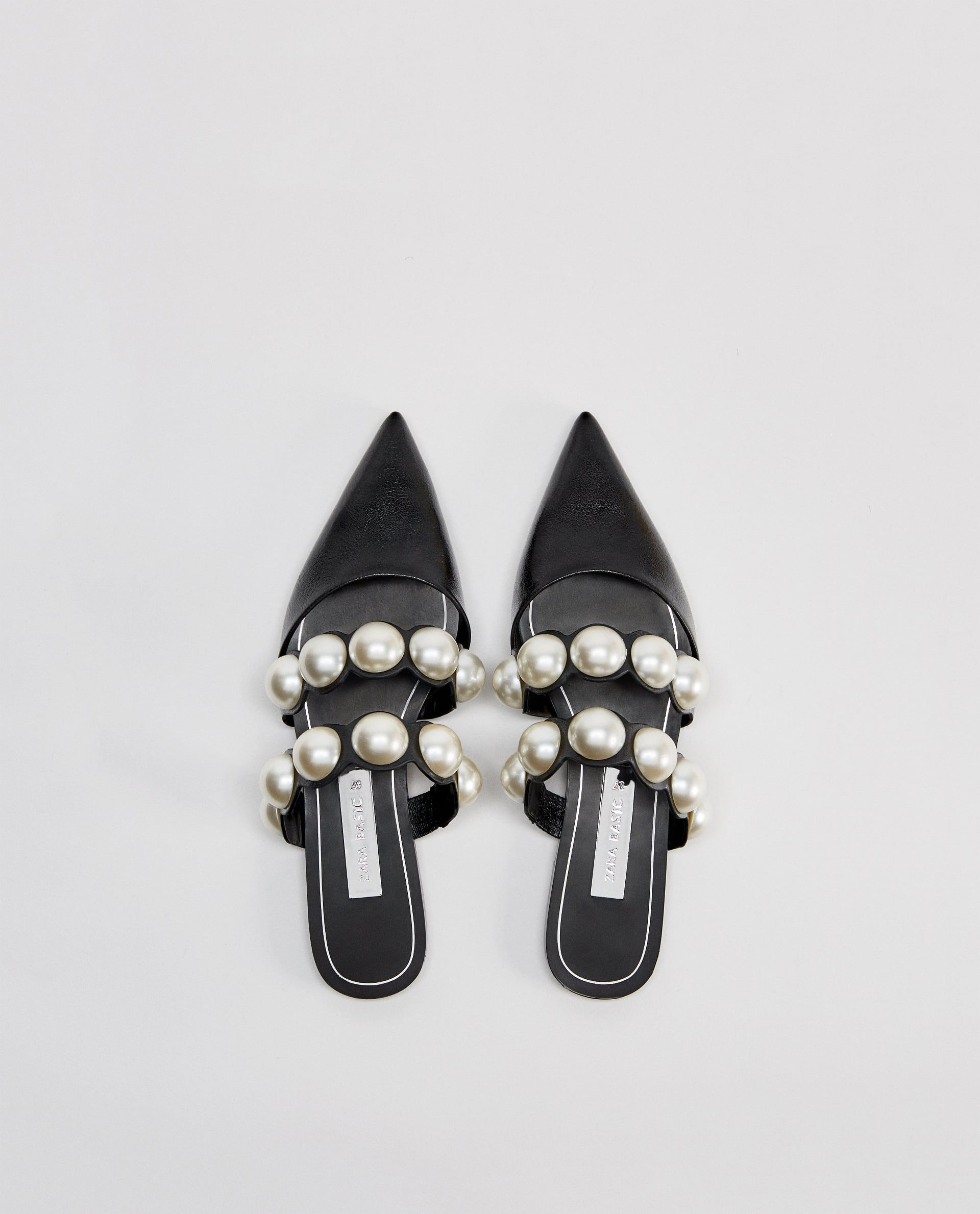 d630296bdf FLAT MULES WITH PEARL BEADS Business Shoes, Business Casual, Top Shoes, Shoes  Sandals