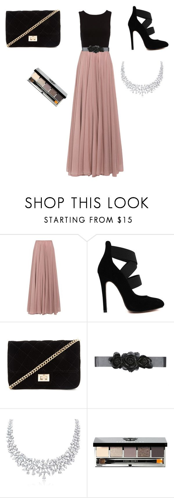 """"" by xxunicornxx12 ❤ liked on Polyvore featuring Lara Khoury, Forever 21, Bebe and Bobbi Brown Cosmetics"
