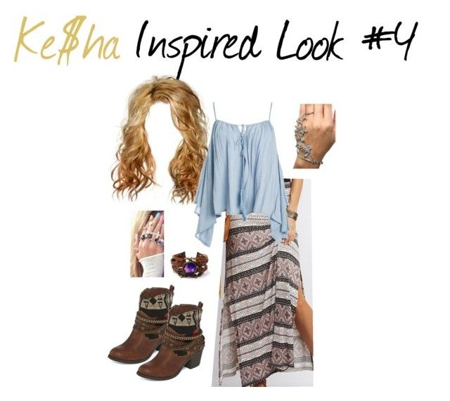 """""""Ke$ha Inspired Look #4"""" by deyoakley on Polyvore featuring Charlotte Russe, POP, Sans Souci and country"""