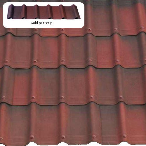 1 06m X 0 4m Onduvilla Tile Strip Shaded Red Corrugated Sheets Roofing Sheets Roof Covering