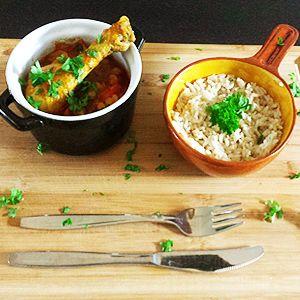 """Gisteren genoten van Pukka gele curry met kip. Een eenvoudig en erg smakelijk gerecht uit het boek """"Bespaar met Jamie"""" van Jamie Oliver."""