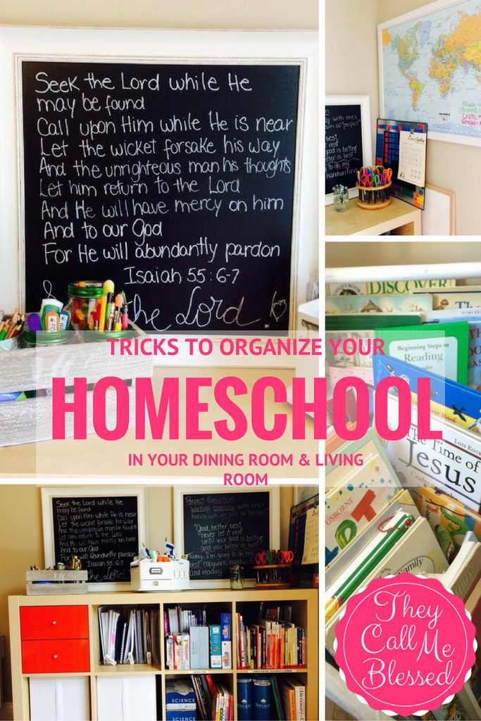 7 Tricks to Organize Your Homeschool in Your Dining Room ...