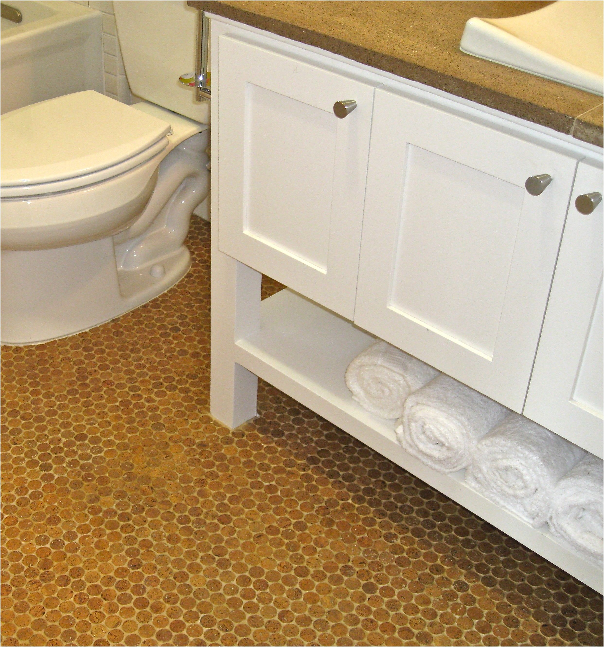 Luxury Cork Flooring In Bathroom