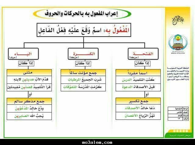 اعراب المفعول به بالحركات والحروف Learning Arabic Arabic Language Teach Arabic