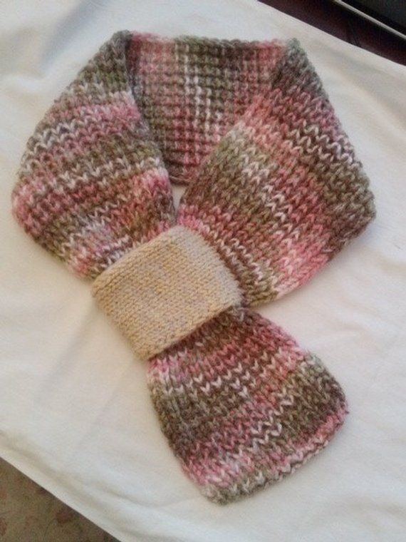 Hand Knit Multicolor Cowl/Neckwarmer/Infinity Scarf | Strickmuster ...