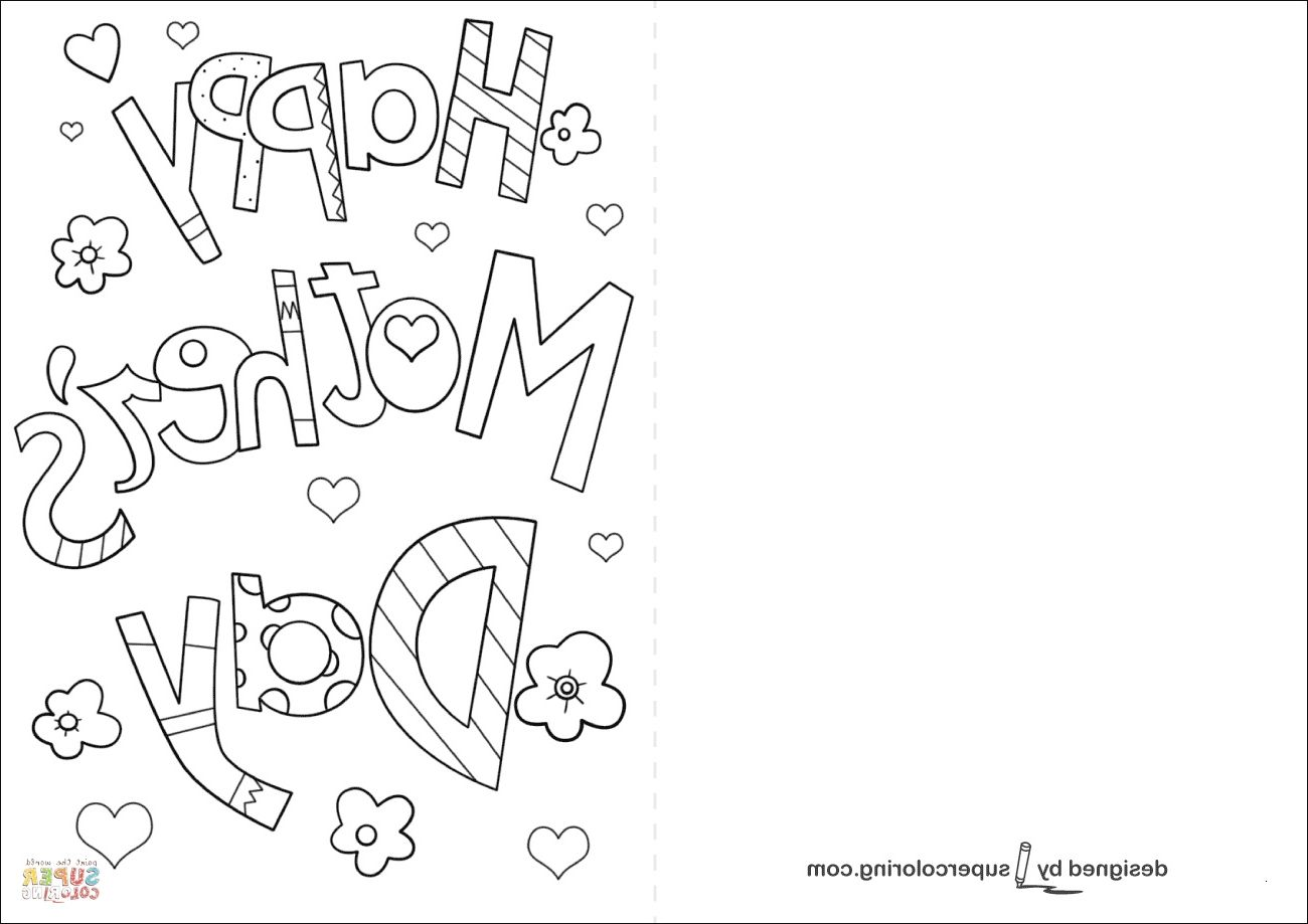 Mother Day Coloring Card