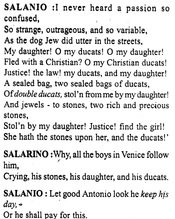 Merchant Of Venice Workbook Answer Act 2 Scene 8 23 Http Www Aplustopper Com Paraphrase Pdf Download