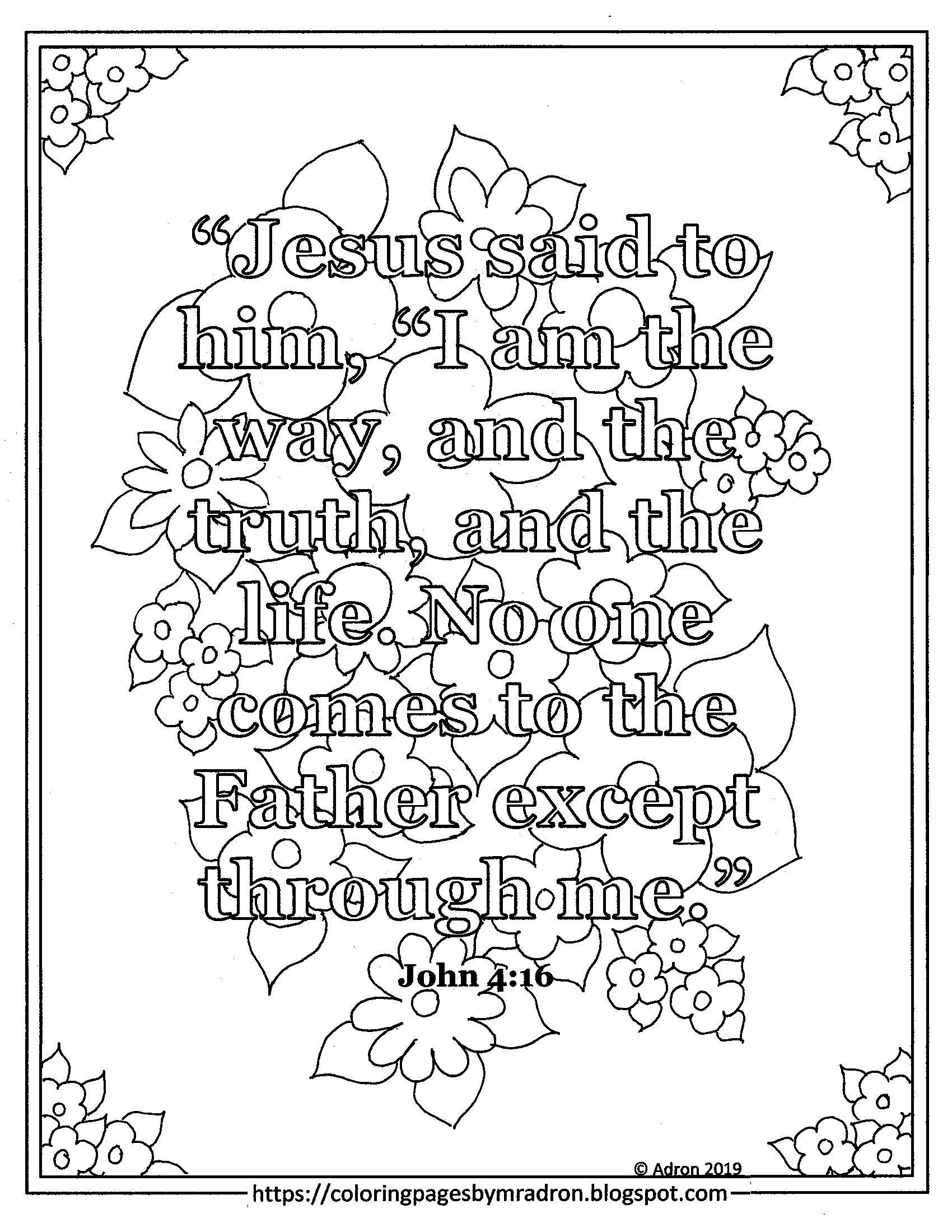 Free John John 14 6 Ash Wednesday Print And Color Page