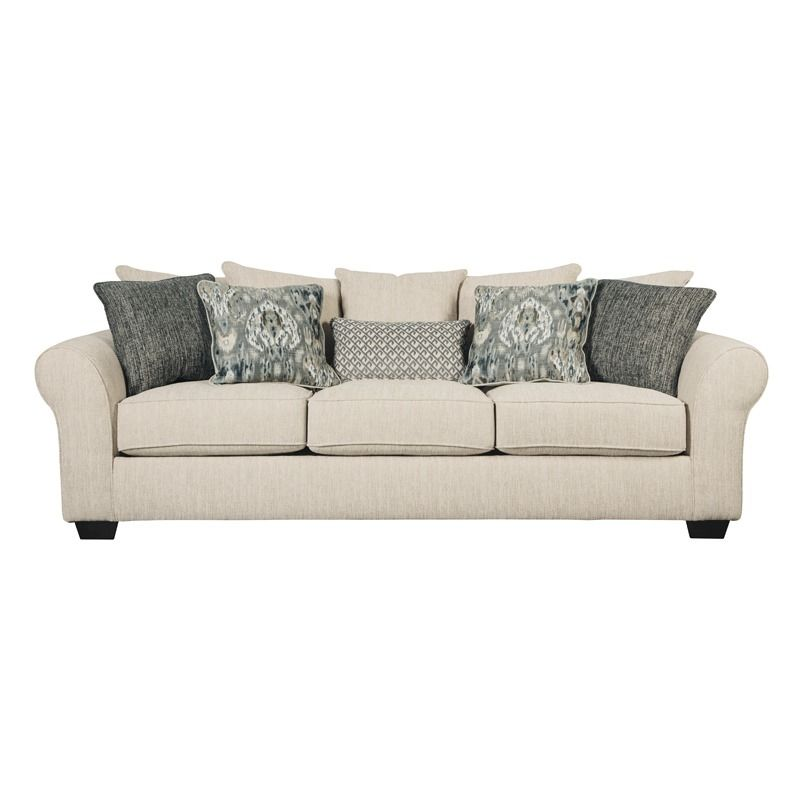 Ashley Silsbee Beige Chenille Sofa | Weekends Only Furniture And Mattress