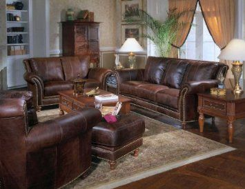 Tuscany Leather Sofa Collection Antique Cognac