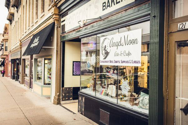 Angel Moon Is A Consignment Store In Historic Downtown Janesville Featuring Finished Arts And Crafts Arts And Crafts Supplies Janesville Janesville Wisconsin