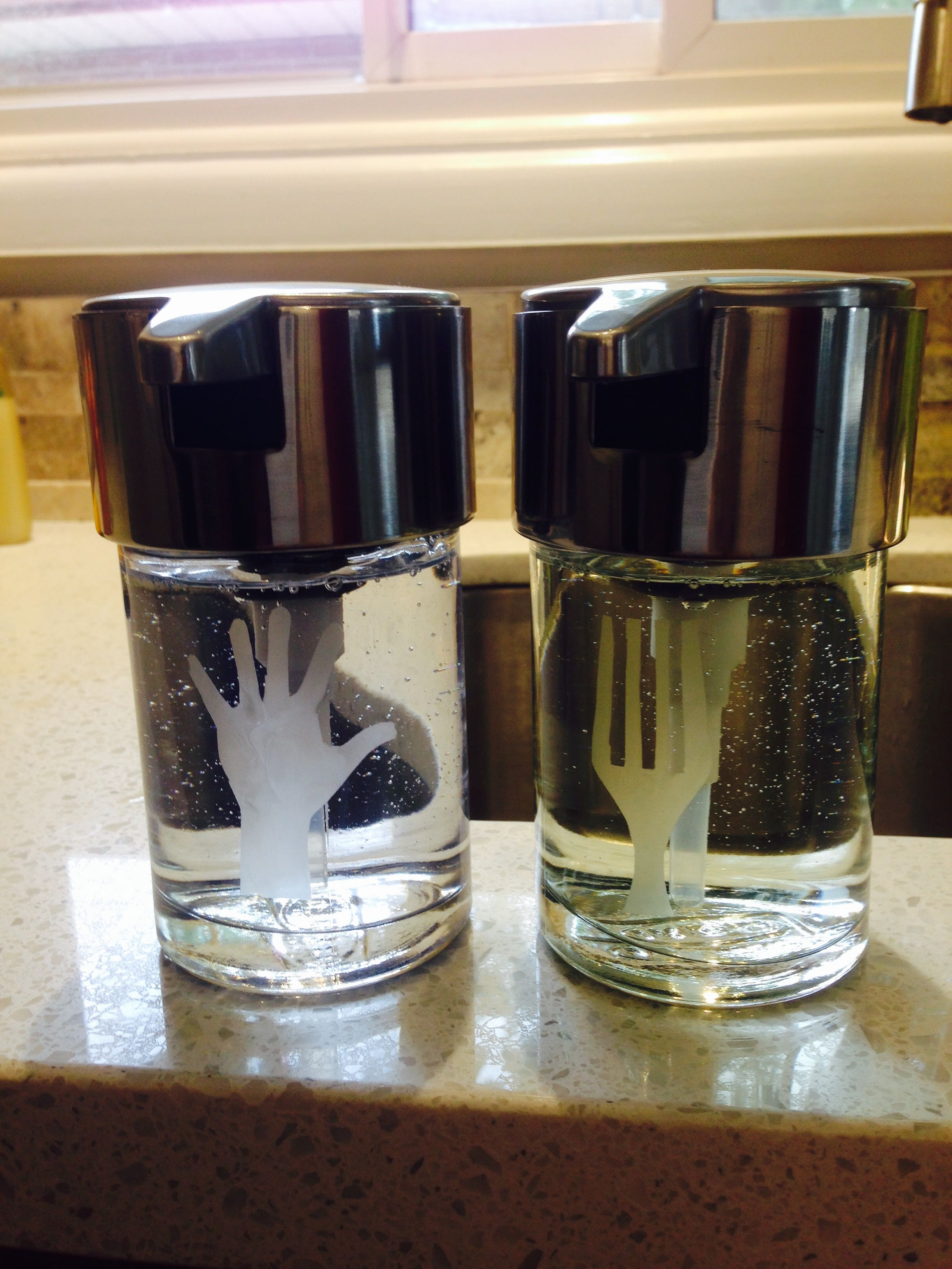 Exceptional Customized IKEA Kalkgrund Soap Dispensers For The Kitchen. Dish Soap And Hand  Soap. Etched
