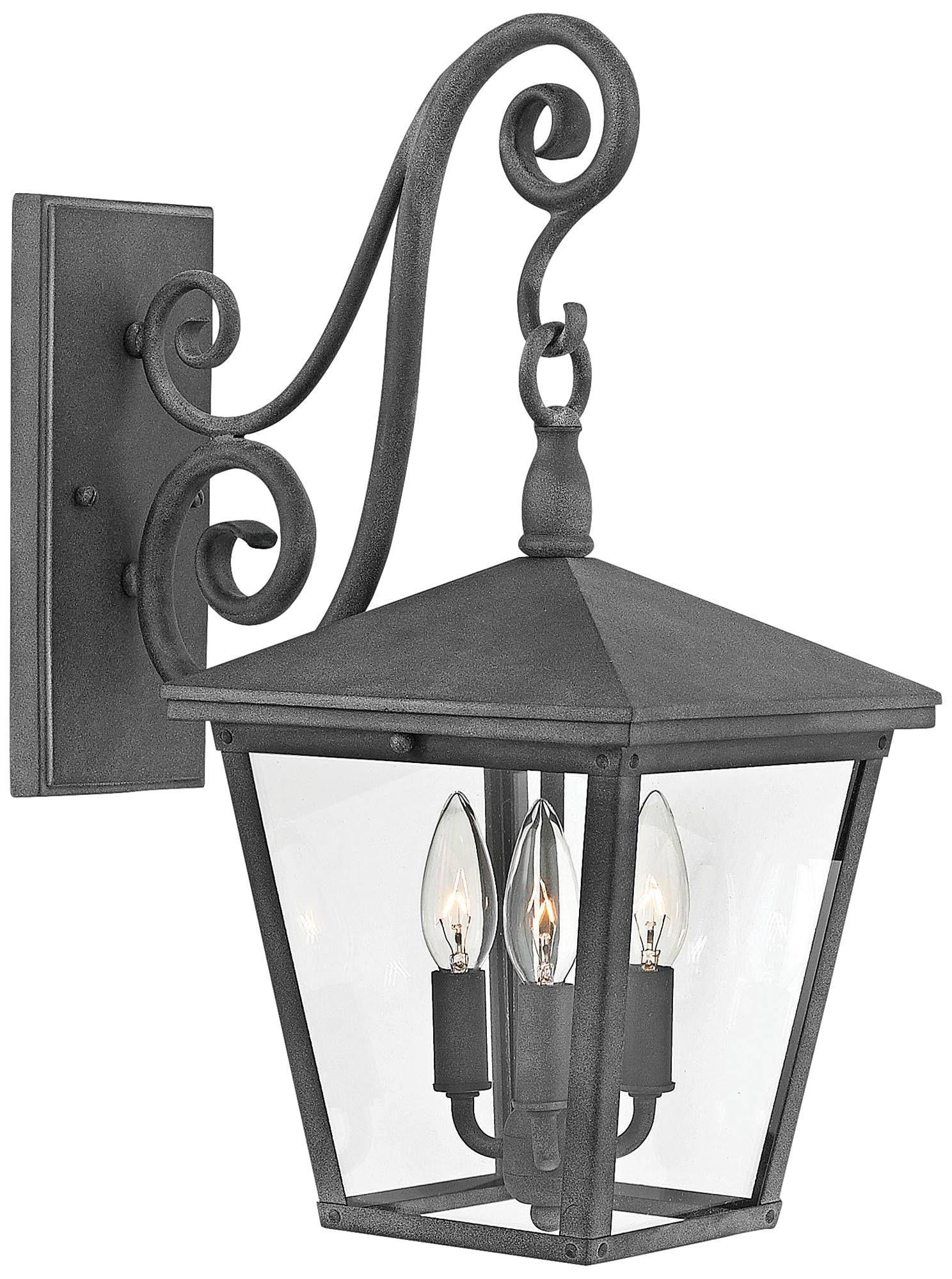 Trellis 19 3 4 High Aged Zinc 3 Light Outdoor Wall Light 18f07